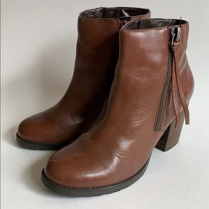 Marc Fisher Brown Leather Booties